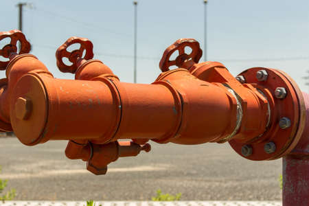 hoses: Fire hydrants, fire hoses connecting place.