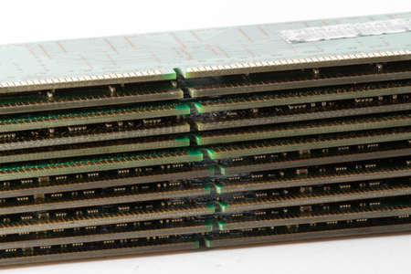 dimm: The memory ram modules on white background