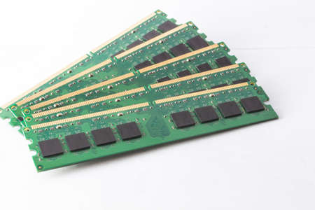 modules: The memory ram modules on white background