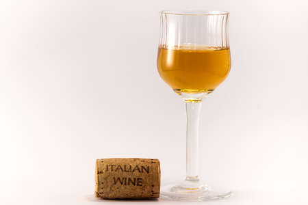withe: The italian wine on a withe background