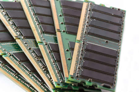 dimm: Notebook and laptop computer memory, pc memory banks Stock Photo