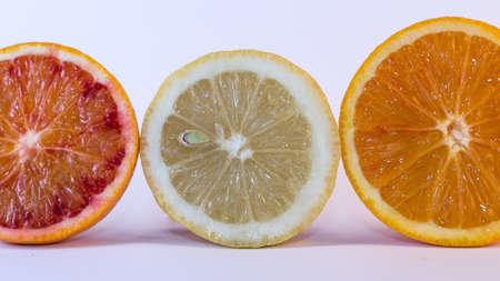 trio: Trio citrus on white background