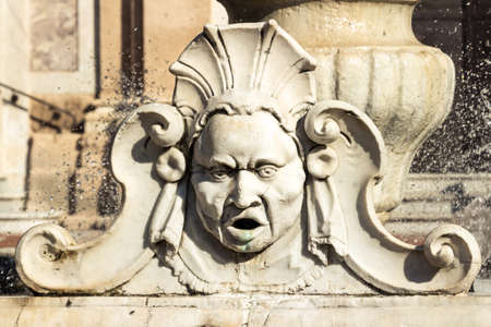 Detail of the water fountain of in Savona, Italy. Stock fotó