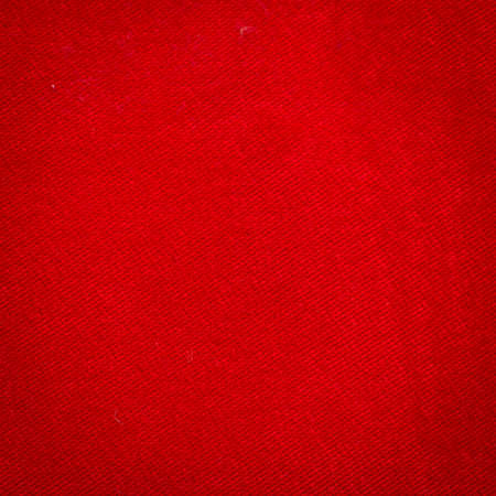 Rustic canvas fabric texture in red color. Square shape Stock Photo