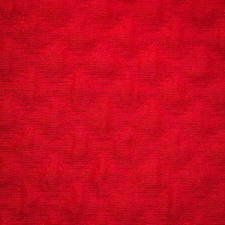 clic: Rustic canvas fabric texture in red color. Square shape Stock Photo