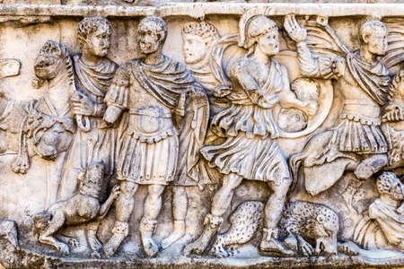 고대 돌담의 로마 지어져