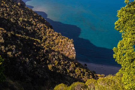 Tindari, Sicily (Italy): The beautiful Sicilian coast in the afternoon in spring time