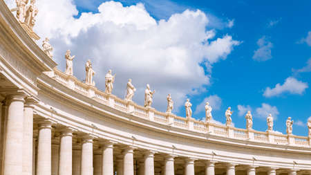 Detail of colonnade St. Peter's Square in Rome