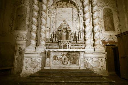 Ancient altar of a Sicilian baroque church
