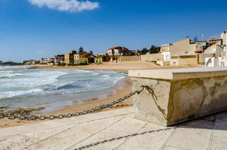 Sicily: characteristic seaside village with villas by the sea