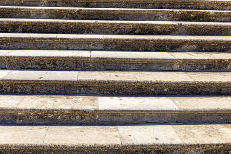 close up of an ancient marble staircase