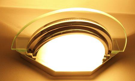 homeware: indoor glass light fitting, retro 30s style