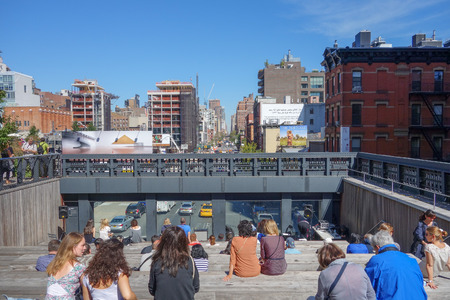 NEW YORK, USA - SEPTEMBER 23, 2014: The Meat Packing district in Manhattan once derelict is now the most fashionable leisure area in town
