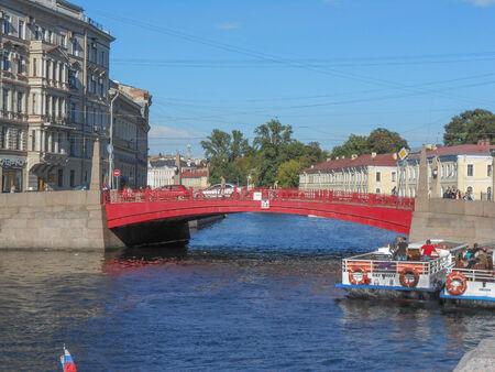 SAINT PETERSBURG, RUSSIA - AUGUST 29, 2013: Tourists visiting the city of Saint Petersburg aka Leningrad in Russia