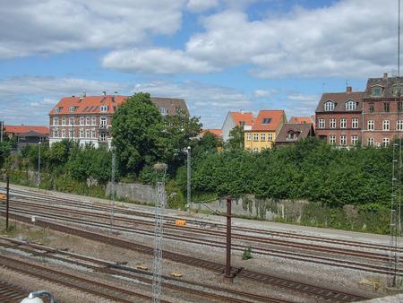 Railway station in Aarhus in Denmark Stock Photo