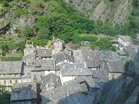 bard: View of the town of Bard in Aosta Valley Italy