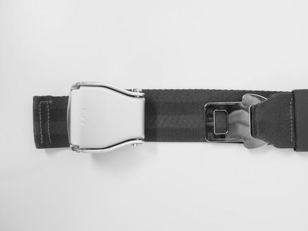 cinturon seguridad: Cintur�n de seguridad conocido como dispositivo de seguridad de los veh�culos de cintur�n de seguridad Foto de archivo
