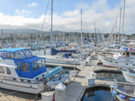 big sur: BIG SUR, USA - FEBRUARY 05, 2013: Ships at the Big Sur harbour in California USA