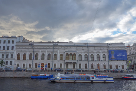 founded: SAINT PETERSBURG, RUSSIA - AUGUST 30, 2014: The Faberge Museum was founded in order to repatriate lost cultural valuables to Russia