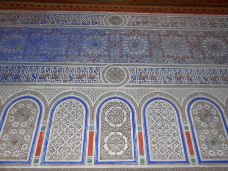 discovered: MARRAKECH, MOROCCO - JANUARY 24, 2014: The Saadian Tombs dating back from the time of sultan Ahmad al Mansur were discovered and restored in 1917 Editorial