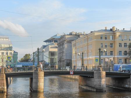 SAINT PETERSBURG, RUSSIA - AUGUST 31, 2013: Tourists visiting the city of Saint Petersburg aka Leningrad in Russia