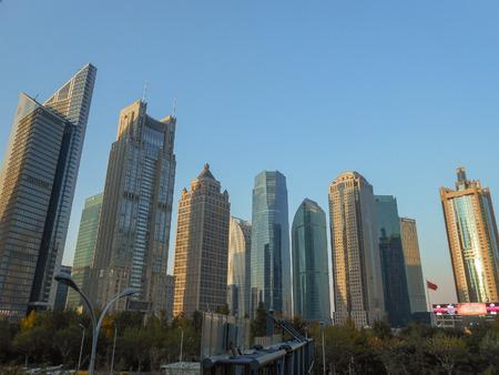 SHANGHAI, CHINA - NOVEMBER 29, 2013: View of the city skyline