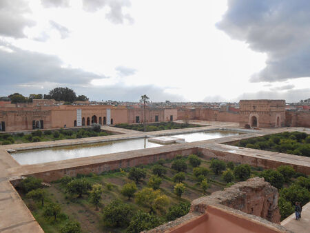 incomparable: MARRAKECH, MOROCCO - JANUARY 23, 2014: El Badi palace which means Incomparable Palace is a major city landmark