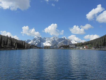lake misurina: Lake Misurina is the largest natural lake of the Cadore region and it is 1754 m above sea level near Auronzo di Cadore Belluno