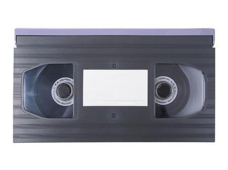vhs videotape: Betamax video tape cassette isolated over white background