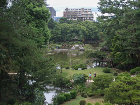 en: Shukkei En garden in Hiroshima Japan Editorial