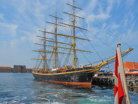 danmark: View of the city of Copenhagen in Danmark Stock Photo