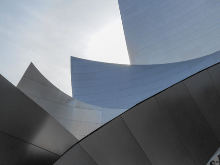 LOS ANGELES, USA - FEBRUARY 01, 2013: The Walt Disney concert hall in Los Angeles designed by Richard Gehry opened in 2003