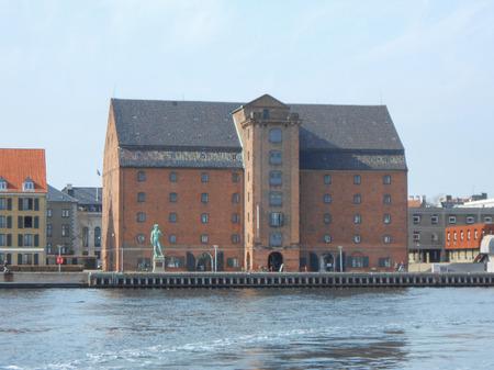 COPENHAGEN, DENMARK - MARCH 30, 2014: Replica of Michelangelo David in front of the Danish Royal Cast Collection at the Langelinie Promenade