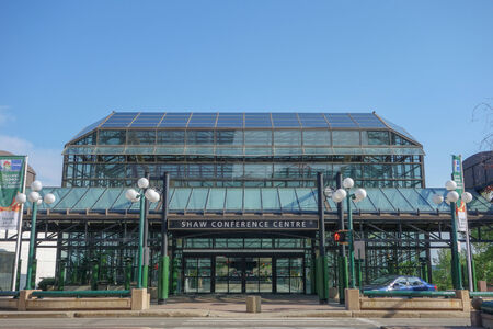venue: EDMONTON, CANADA - AUGUST 8, 2014: The Shaw Conference Centre is a meeting entertainment and convention venue