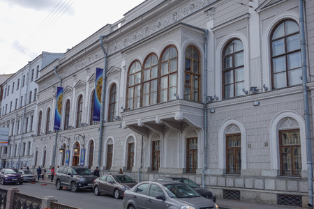 valuables: SAINT PETERSBURG, RUSSIA - AUGUST 30, 2014: The Faberge Museum was founded in order to repatriate lost cultural valuables to Russia