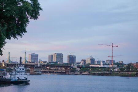 portland: View of the city of Portland, USA Stock Photo