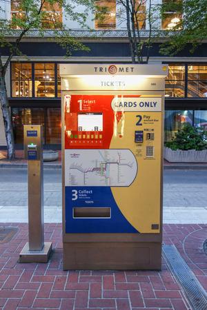 ticketing: PORTLAND, USA - MAY 19, 2015: Ticketing machine for public transport