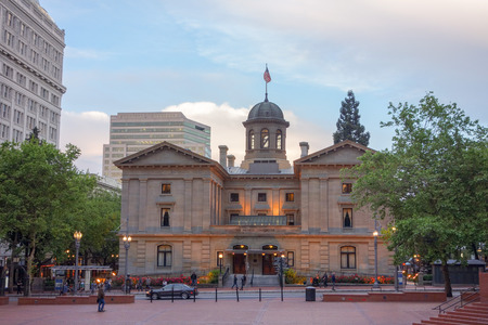 pacific northwest: PORTLAND, USA - MAY 19, 2015: Pioneer Courthouse is the oldest federal building in the Pacific Northwest Editorial