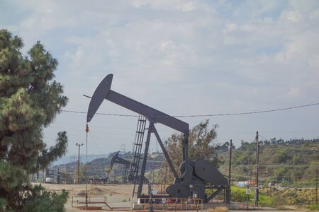 contiguous: INGLEWOOD, USA - MAY 18, 2015: Inglewood Oil Field is one of the largest contiguous urban oil fields in the United States since 1924 Editorial