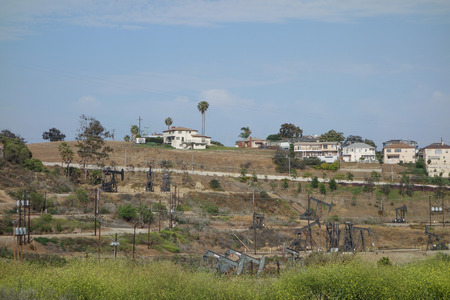 INGLEWOOD, USA - MAY 18, 2015: Inglewood Oil Field is one of the largest contiguous urban oil fields in the United States since 1924 Editorial