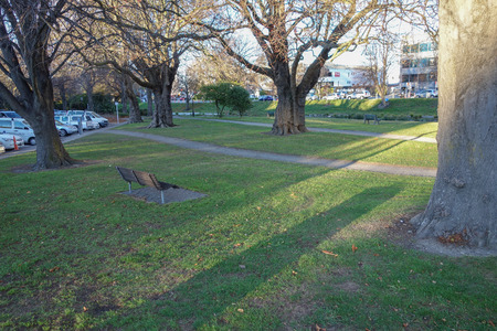 earthquakes: Memorial park for the Canterbury Earthquakes in Christchurch, New Zealand Editorial