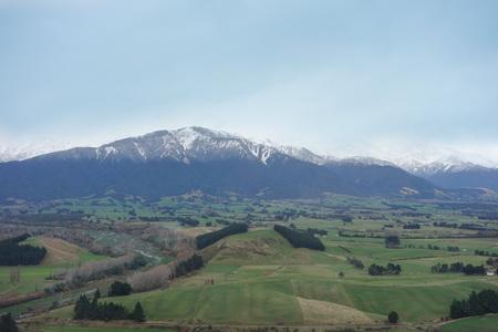 kaikoura: View of the mountains in the city of Kaikoura, New Zealand Stock Photo