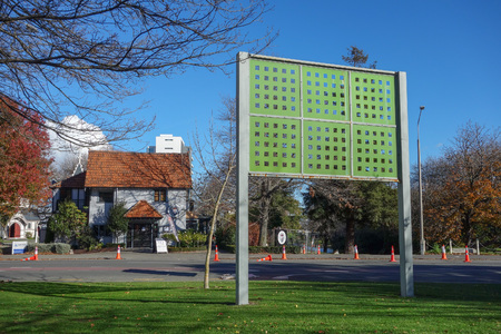earthquakes: Memorial park for the Canterbury Earthquakes in Christchurch, New Zealand Stock Photo