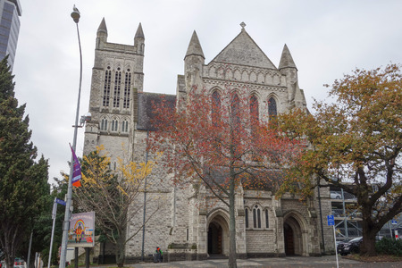 denominational: AUCKLAND, NEW ZEALAND - JUNE 09, 2015: St Matthew church is a gay and lesbian non denominational christian community