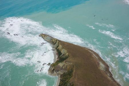 kaikoura: View of the sea in Kaikoura, New Zealand Stock Photo