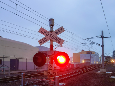 barrier gate: Level crossing without a gate or barrier traffic sign