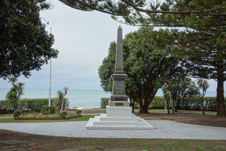 honour: KAIKOURA, NEW ZEALAND - JUNE 15, 2015: Roll of honour war memorial for the victims of the great war