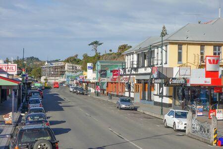 kaikoura: KAIKOURA, NEW ZEALAND - JUNE 15, 2015: View of the city centre