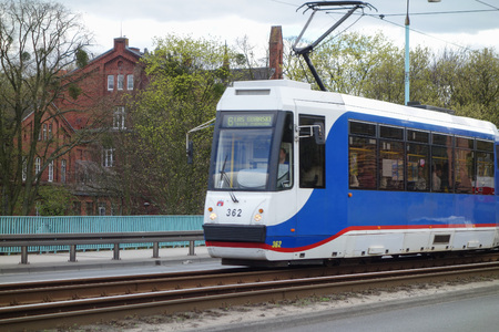 tramway: BYDGOSZCZ, POLAND - CIRCA APRIL 2016: Tramway in the city centre