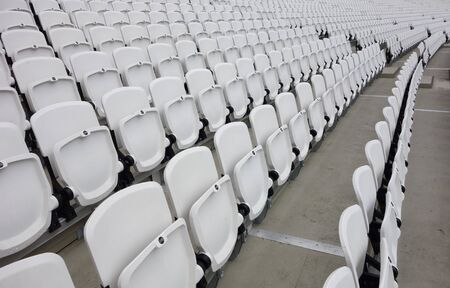 Empty audience seats for an entertainment event Stock Photo